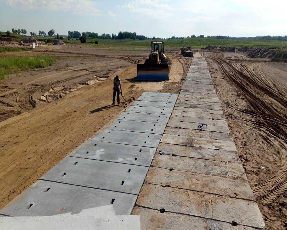 Budowa drogi z płyt betonowych