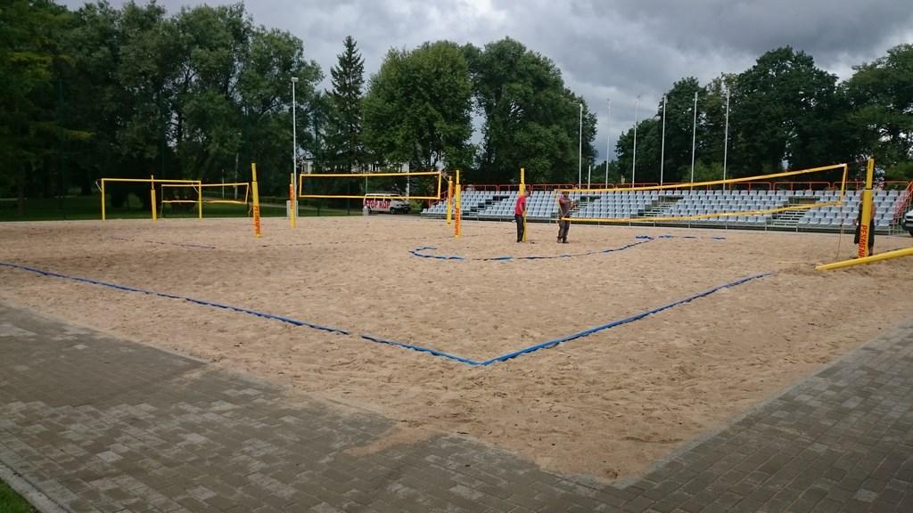Budowa boiska do Beach soccera w Suwałkach