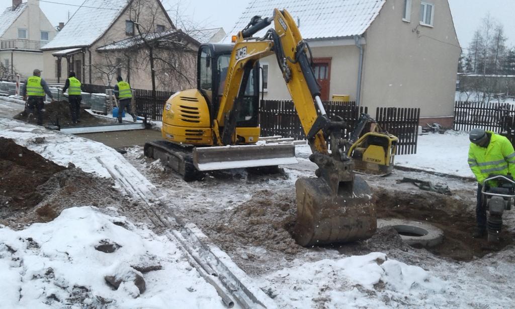 Budowa ul.Asnyka w Olecku