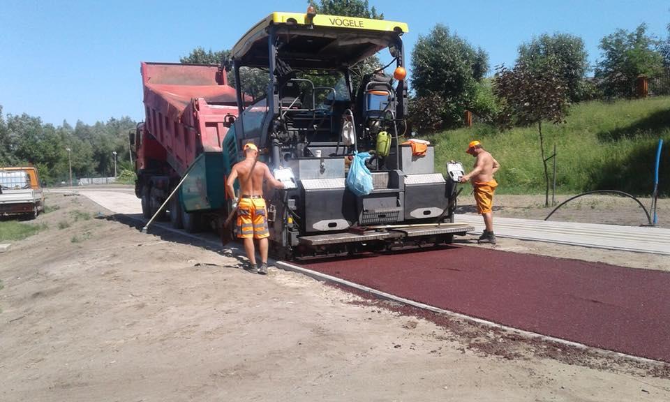 Budowa ścieżek rowerowych w mieście Ełk